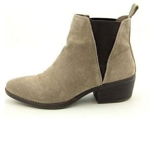 White Mountain Hammond Tan Suede Ankle Bootie 10